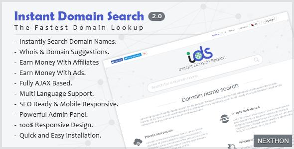اسکریپت جستجوگر دامنه Instant Domain Search نسخه ۲٫۰