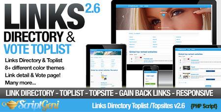 اسکریپت دایرکتوری لینکها Links Directory & Toplist