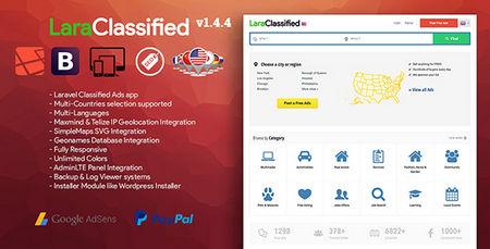اسکریپت ایجاد سایت نیازمندی ها و ثبت آگهی LaraClassified نسخه 1.4.4