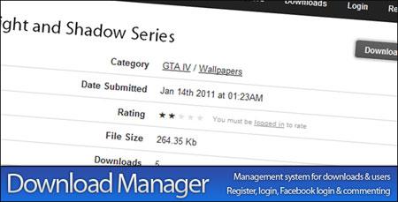 اسکریپت مدیریت دانلود Download Manager