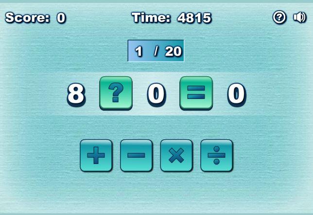 بازی انلاین محاسبات ریاضی