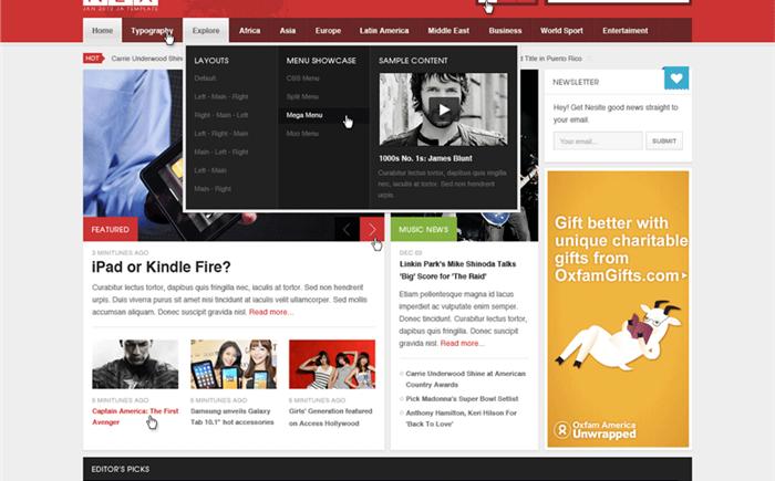 قالب زیبا و active که کاربران را سریع جذب سایت شما می کند