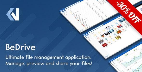 دانلود BeDrive – اسکریپت اشتراک گذاری فایل و فضای ذخیره ابری