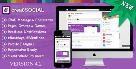 دانلود اسکریپت جامعه مجازی Crea8social نسخه 4.2.2