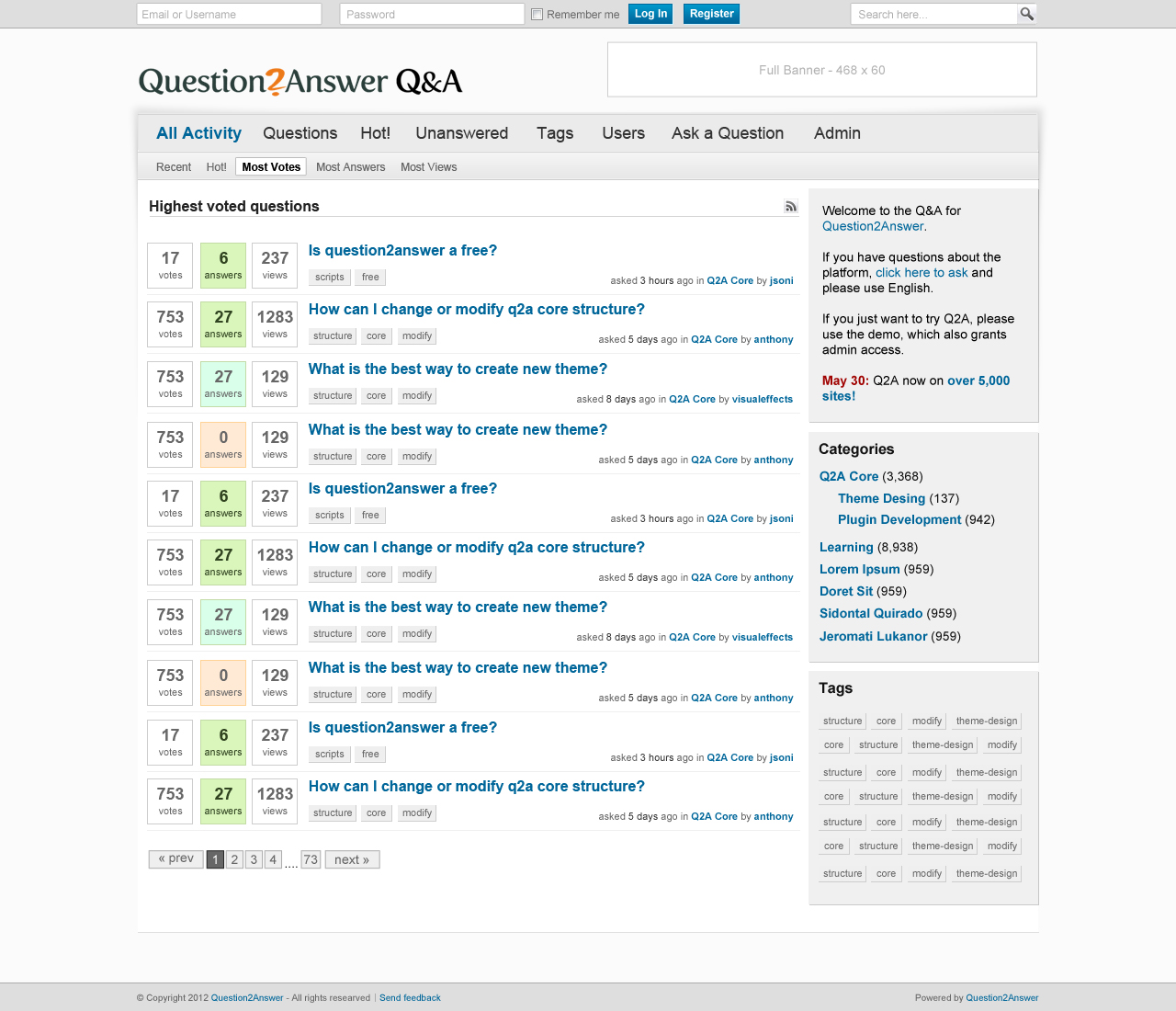 اسکریپت پرسش و پاسخ Question2Answer فارسی نسخه ۱٫۸٫۰