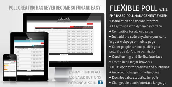 اسکریپت ایجاد و مدیریت نظرسنجی Flexible Poll نسخه 1.2