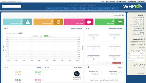 اسکریپت مدیریت هاستینگ و صورت حساب فارسی WHMCS نسخه 7.9.2