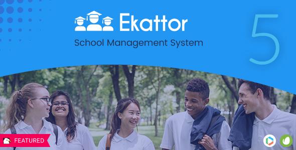 اسکریپت مدیریت مدارس Ekattor نسخه ۶٫۰