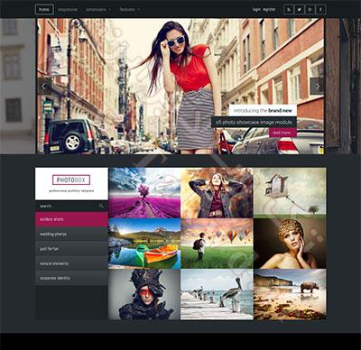 قالب گرافیک و عکاسی Photobox برای جوملا 3 و جوملا 2.5 از شرکت Shape5