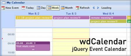 اسکریپت تقویم wdCalendar مشابه Google Calendar
