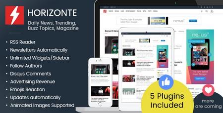 اسکریپت ایجاد مجله خبری آنلاین Horizonte