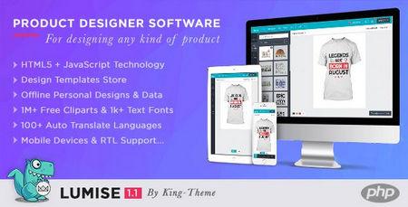 اسکریپت طراحی آنلاین محصول Lumise