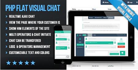 اسکریپت چت زنده و گفتگوی آنلاین PHP Flat Visual Live Chat