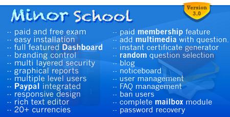 اسکریپت مدیریت مدرسه Minor School MCQ