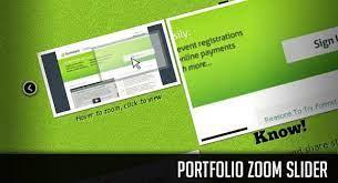 دانلود اسلایدر قدرتمند Portfolio Zoom Slider