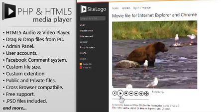 اسکریپت اشتراک گذاری موسیقی و ویدئو Media Player