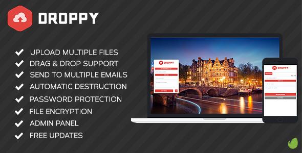 اسکریپت اشتراک گذاری فایل Droppy نسخه ۱.۴.۰